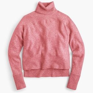 J. Crew Pink Turtleneck Sweater with Side Slits XS
